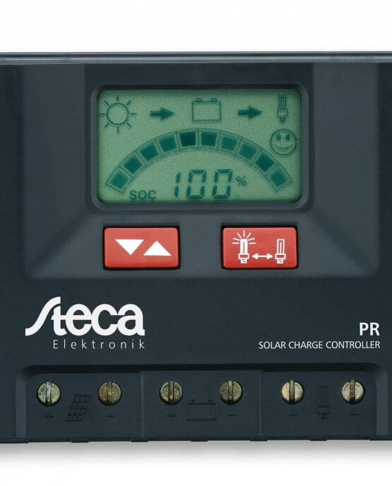 Regulador de carga STECA PR 12 24v 10-15-20-30 Amperios www.suenergiasolar.com