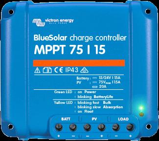 Regulador Maximizador de 15A y 12v 24v con MPPT 75 15 de VICTRON www.suenergiasolar.com